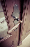 Латунная ручка дверей Стоковые Фотографии RF