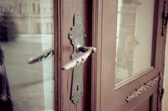 Латунная ручка дверей Стоковое Изображение RF