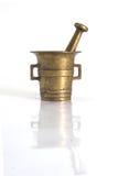 латунная ступка старая Стоковое Фото