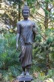 Латунная черная статуя Будды Стоковые Фото
