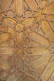 Латунное украшение на морокканской двери Стоковая Фотография RF