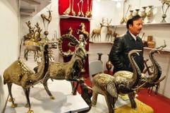 Латунные животные статуи от Пакистана Стоковая Фотография