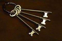 латунные ключи стоковые изображения rf