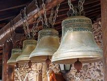 Латунные церковные колокола стоковое фото rf