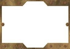 латунный желтый цвет металла рамки Стоковые Изображения RF