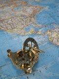 латунный компас Стоковые Фото