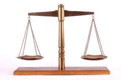 латунный маштаб деревянный Стоковая Фотография