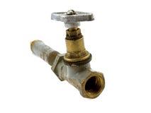 латунный старый клапан Стоковые Фото