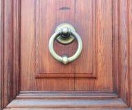 Латунный Knocker двери Стоковое фото RF