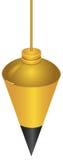 Латунный Plumb Bob Стоковые Изображения RF