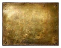 латунь почистила grungy знак щеткой стоковое фото