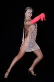 латынь девушки танцора Стоковая Фотография