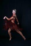 латынь девушки танцора Стоковая Фотография RF