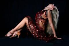 латынь девушки танцора Стоковые Фотографии RF