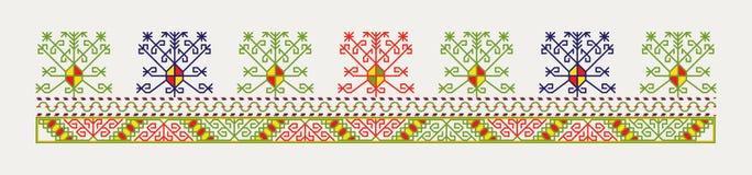 Латышская прибалтийская этнографическая картина иллюстрация вектора