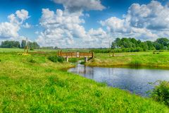 Латышский взгляд ландшафта стороны страны Стоковое фото RF