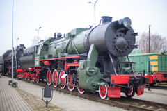 Латышский железнодорожный музей истории Стоковые Фотографии RF