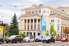 Латышский национальный академичный дом театра оперы и балета, Рига, Латвия стоковое изображение rf
