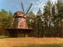 Латышский под открытым небом этнографический музей в Риге стоковая фотография