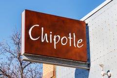 Лафайет - около февраль 2018: Гриль-ресторан мексиканца Chipotle Chipotle цепь ресторанов быстрого обслуживания буррито II Стоковые Изображения RF