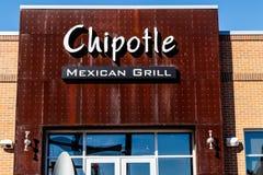 Лафайет - около февраль 2018: Гриль-ресторан мексиканца Chipotle Chipotle цепь ресторанов быстрого обслуживания буррито i Стоковые Фотографии RF