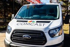 Лафайет - около февраль 2018: Корабль обслуживания Comcast Comcast многонациональная компания средств массовой информации i Стоковая Фотография