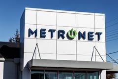 Лафайет - около февраль 2018: Местный магазин розничной торговли MetroNet MetroNet предлагает дело и жилой интернет i оптического Стоковые Фотографии RF