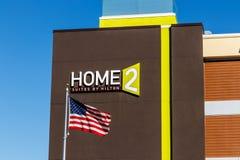 Лафайет - около февраль 2018: Сюиты Home2 Hilton Сюиты Home2 гостиница II расширенн-пребывания все-сюиты Стоковое фото RF