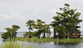 лачуга озера стоковая фотография rf