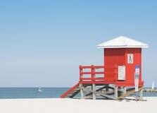 лачуга пляжа Стоковое Фото