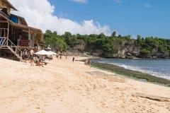 Лачуги пляжа Balangan - Бали Индонезия Стоковая Фотография RF