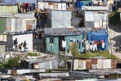 Лачуги утюга Corrigated в Khayelitsha стоковая фотография