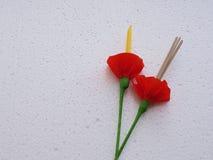 Ладан и белой свечи предпосылки текстуры Стоковое Изображение