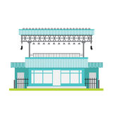 Ла голубой черноты ветрового стекла вектора здания магазина белое стальное Стоковые Изображения RF