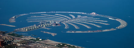ладонь острова Дубай Стоковое Изображение RF