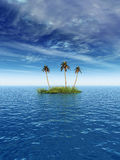 ладонь острова Стоковое Изображение RF