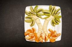Ладонь сделанная из плодоовощей Стоковые Фотографии RF