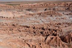 Ла луна Valle de или долина луны San Pedro de Atacama Чили Стоковое фото RF
