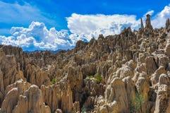 Ла луна Valle de около Ла Paz, Боливии стоковые изображения rf