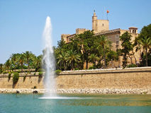 Ла Almudaina Palacio реальное de королевского дворца, Palma de Majorca Стоковая Фотография