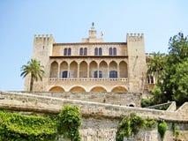 Ла Almudaina Palacio реальное de королевского дворца, Palma de Majorca Стоковое Фото