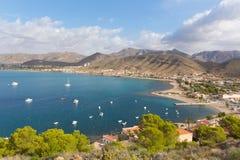Ла Azohia Мурсия Испания деревня расположенная около Ла Isla Plana и между Puerto de Mazarron и Cartagena стоковые изображения rf