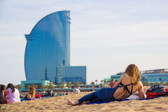Ла Barceloneta Стоковое Фото