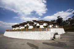 Ла Chorten Dochu, западный Бутан, Азия Стоковая Фотография