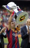 Ла Corogne Liga - Espagne Xavi Hernandez FC Barcelone v Стоковые Фотографии RF