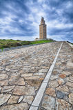 Ла Coruna, Испания, маяк Стоковое Изображение