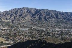 Ла Crescenta и Mt Lukins в южной Калифорнии Стоковое фото RF