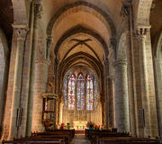 Ла dans Basilique Свят-Nazaire Ла цитирует de Каркассон - од & x28; France& x29; стоковое фото