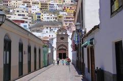ЛА GOMERA SAN SEBASTIAN DE, 8-ОЕ АВГУСТА 2014; Канарские островы, Испания Стоковое Изображение RF