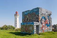 Ла Hevre маяка и свои bumkers стоковые изображения